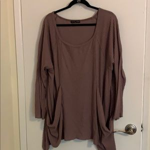 Purple oversized sweater with pockets